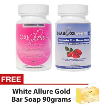 Oxiglow Plus 10 in 1 Glutathione and BeauOxi White Vitamin C Combowith FREE White Allure Soap