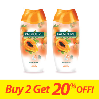 Palmolive Naturals White + Papaya Whitening Body Wash (naturally fair and fab skin) 200ml - Save up to 25%