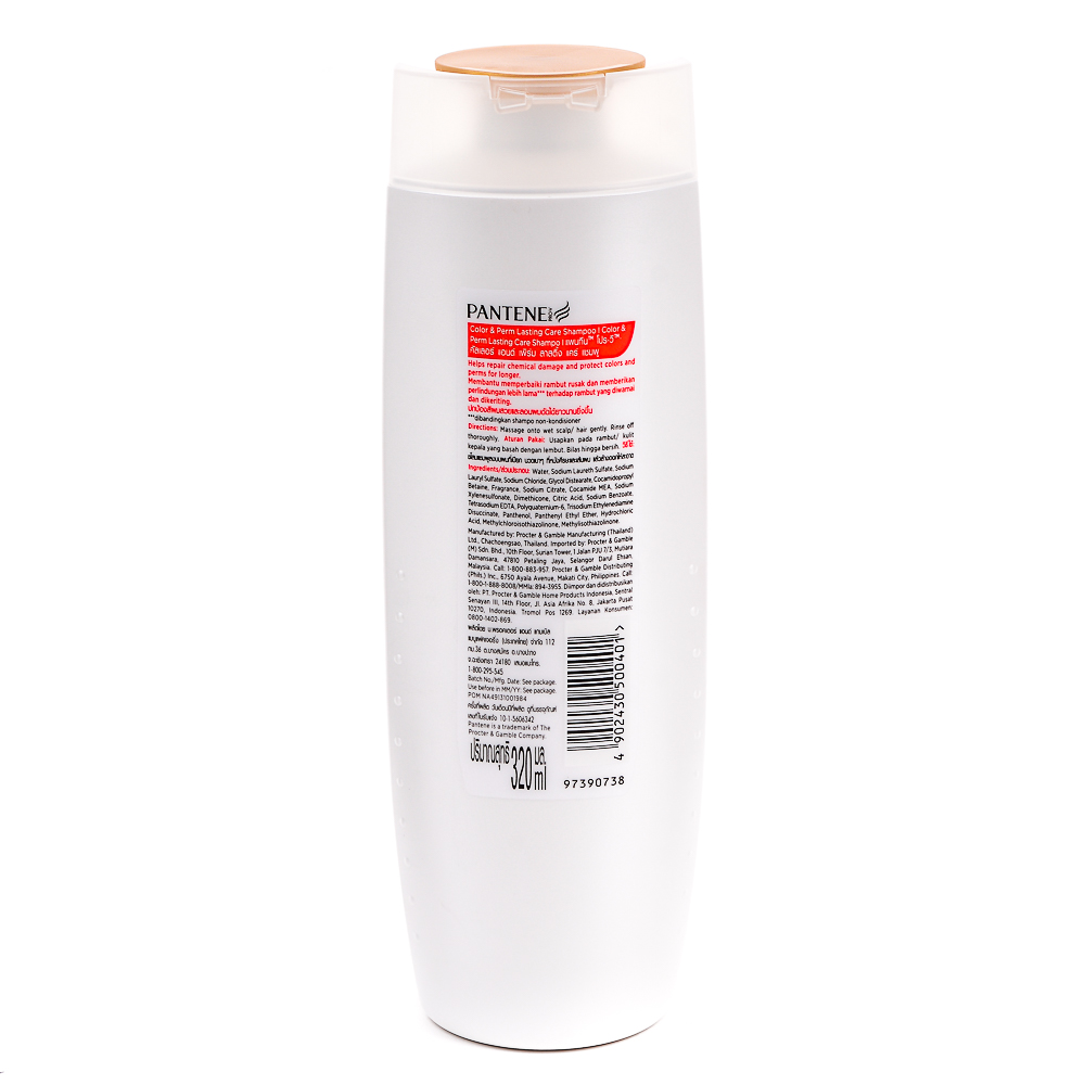 Philippines Pantene Color And Perm Lasting Care Shampoo 320ml Pro V Hair Fall Control 480ml