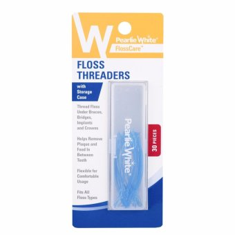 Pearlie White Floss Threaders with Storage Case 30pcs