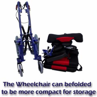 Phoenixhub High quality Cerebral Palsy Multi Functional Heavy Duty stainless steel Rehab Wheelchair small size (lBLUE) FS958L - 5