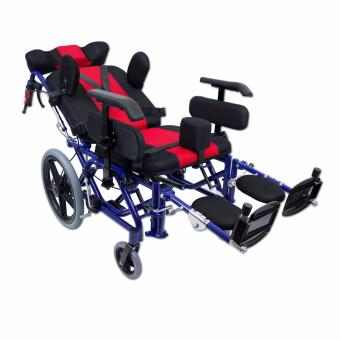 Phoenixhub High quality Cerebral Palsy Multi Functional Heavy Duty stainless steel Rehab Wheelchair small size (lBLUE) FS958L - 3