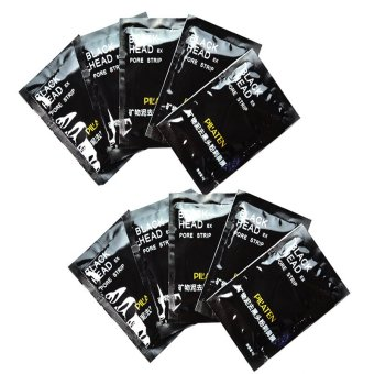 Pilaten Facial Minerals Conk Nose Blackhead Remover Mask PoreCleanser Black Head EX Pore Strip Skin Care Set of 10