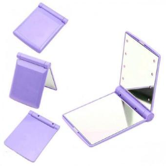 Pocket Makeup Mirror With LED Light (Purple)
