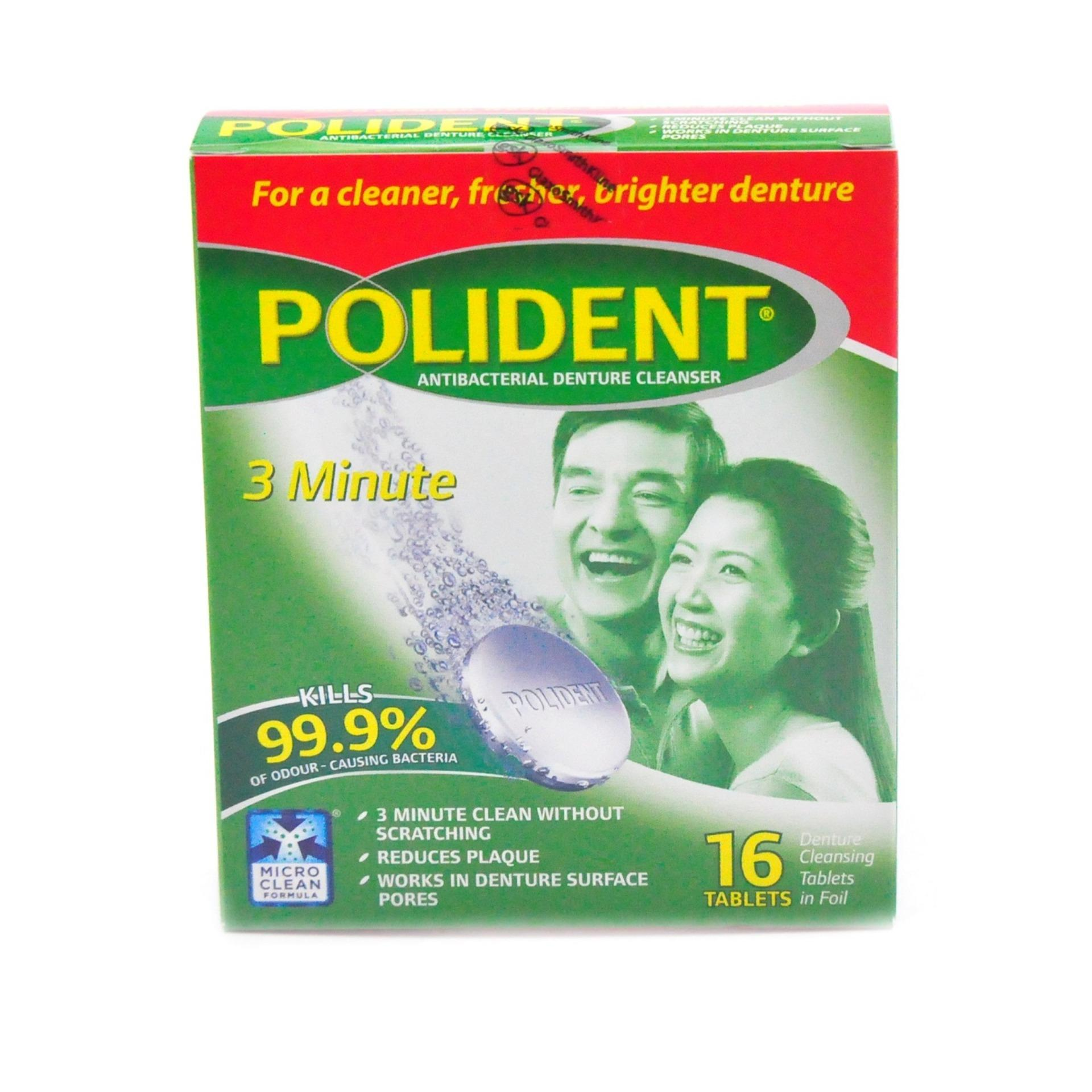 Philippines Polident 3 Minute Antibacterial Denture Cleanser 16 Tablets