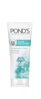 POND'S CLEAR SOLUTIONS FACIAL SCRUB ANTI-BACTERIAL 100G . - 2