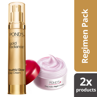 Pond's Gold Radiance Day Cream with Free Age Miracle Night Cream 10g