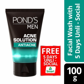 Pond's Men Acne Solution Facial Wash 100g With Free 5 Days Unli-Social