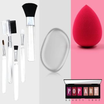 Pop Art Beauty Blender Sponges with Make up Brushes