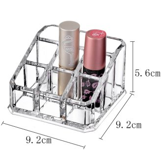 Pop Art Blanche Clear Acrylic 9 Lipstick Storage Display Organizer(8811)