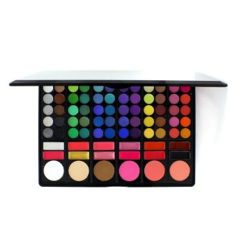 Pop Art Pro 78 Color Eye Shadow Cheek Blusher Lip Gloss MakeupPalette Multicolor - 2