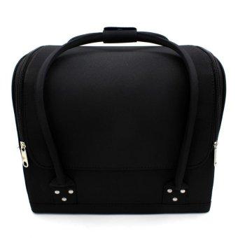 Pop Art Professional Make-up Bag Case Raven (Matte Black) - 2
