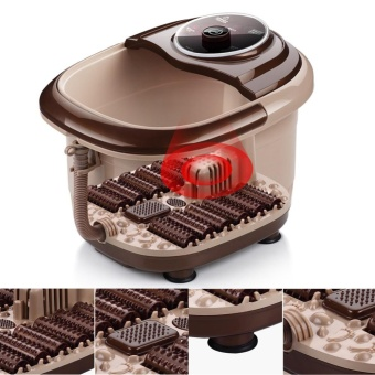 Portable Automatic All In One Foot & Leg Spa Bath 12 RollerMassager Bubble Heat Infrared Relax Health Care 220V - intl