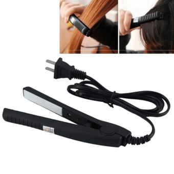 Portable Electrical Hair Straightener Flat Iron StylingTools(BLACK)