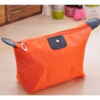 Pouch Cosmetics Make Up Toiletries Bags Makeup Cases Water TravelMakeup Bag Travel Organizers(Orange) - intl