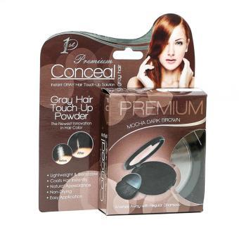 Premium Conceal Gray Hair Touch-Up Powder (Premium Mocha Dark Brown)