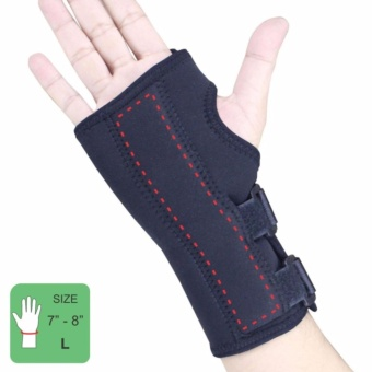 PROCARE PROTECT #1032R Hand and Wrist Splint Brace with Metal Support, Right Hand (Black)