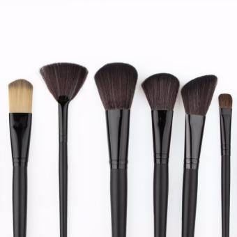 Professional 24Pcs Cosmetic Makeup Make Up Brush Brushes Set Kit Tools + Toothbrush Makeup Brushes Cosmetic Puff with Super Soft Pouch Bag Case - intl - 5