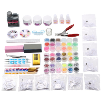 Professional Nail Art Manicure Kits Decoration UV Gel Tool Brush Remover Nail Tips Glue Acrylic Kits DIY Set - Intl