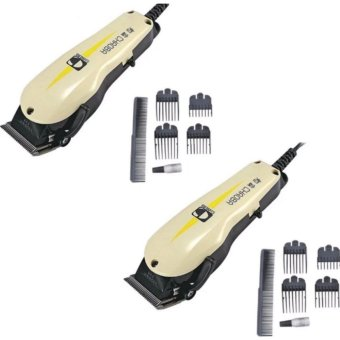 Professional Razor Electric Hair Trimmer Clipper with 4 Comb GuidesSet of 2