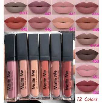 Professional Sexy Long Lasting Velvet Matte Liquid Lipstick 12 Color Lipgloss - intl