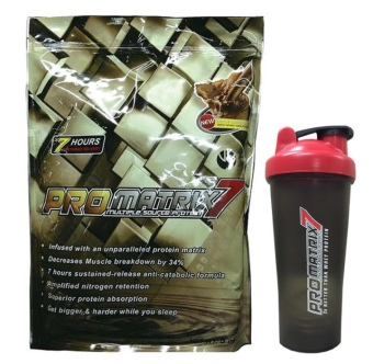 Promatrix 7 Multiple Source Protein with Shaker 5lbs (Chocolate) - picture 2