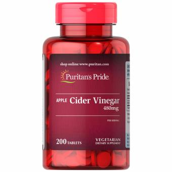 Puritan's Pride Apple Cider Vinegar 480mg 200 tablets Set of 1 Bottle