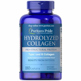 Puritan's Pride Hydrolyzed Collagen 1000mg 180 tablets Set of 1 Bottle