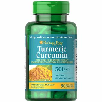 Puritan's Pride Turmeric Curcumin 500mg 90 capsules Set of 1 Bottle