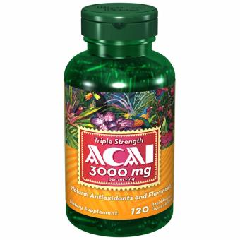Puritan's Pride Acai Berry 3000mg 120 softgels Set of 1 Bottle