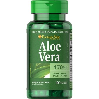 Puritan's Pride Aloe Vera 470mg, 100 Capsules Price Philippines