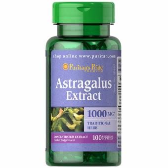Puritan's Pride Astragalus Extract 1000mg 100 softgels Set of 1Bottle