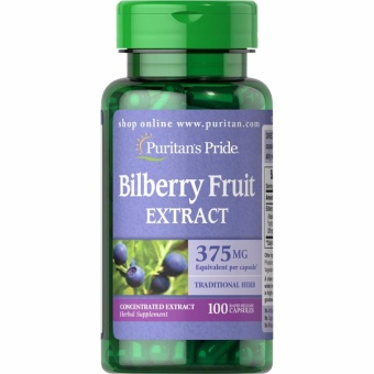 Puritan's Pride Bilberry Fruit Extract 375 mg, 100 Capsules