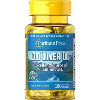 Puritan's Pride Cod Liver Oil, 100 Softgels