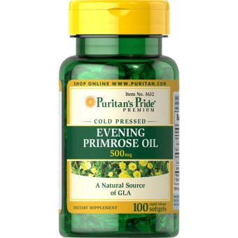 Puritan's Pride Evening Primrose Oil 500mg, 100 Softgels