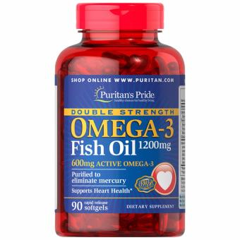 Puritan's Pride Fish Oil Omega 3 Double Strength 1200mg 90 softgelsSet of 1 Bottle Price Philippines