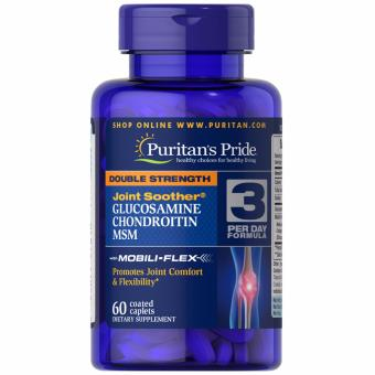 Puritan's Pride Glucosamine Chondroitin MSM Double Strength 60caplets Set of 1 Bottle