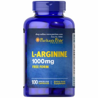Puritan's Pride L-Arginine 1000mg 100 capsules Set of 1 Bottle