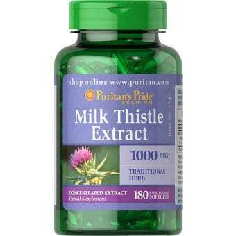 Puritan's Pride Milk Thistle Extract 1000 mg, 180 Softgels