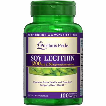 Puritan's Pride Soy Lecithin 1200mg 100 Rapid release softgels Setof 1 Bottle