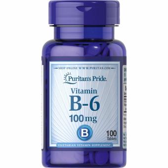 Puritan's Pride Vitamin B-6 100 mg, 100 Tablets