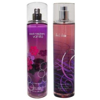 Queen's Secret (Black Rapsberry Vanilla and Dark Kiss) Fine Fragrance Mist 236ml Set of 2