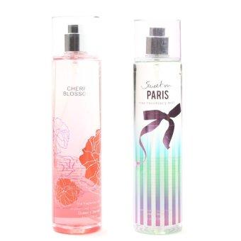 Queen's Secret Cherry Blossom Fine Fragrance Mist for Women 236ml with Queen's Secret Sweet on Paris Fine Fragrance Mist for Women 236ml Bundle