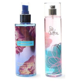 Queen's Secret Endless Love Body Mist for Women 250ml with Queen's Secret Pink Chiffon Fine Fragrance Mist for Women 236ml Bundle