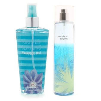 Queen's Secret Forever Blushing Fragrance Mist for Women 250ml with Queen's Secret Sea Island Cotton Fine Fragrance Mist for Women 236ml Bundle