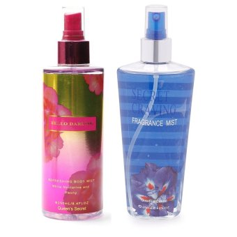 Queen's Secret Hello Darling Body Mist for Women 250ml with Queen's Secret Secret Craving Fragrance Mist for Women 250ml Bundle