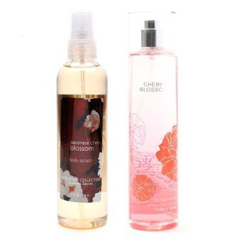 Queen's Secret Japanese Cherry Blossom Body Splash 236ml with Queen's Secret Cherry Blossom Fine Fragrance Mist for Women 236ml Bundle