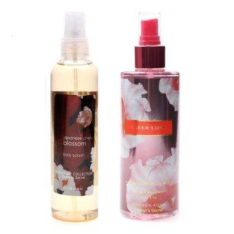 Queen's Secret Japanese Cherry Blossom Body Splash 236ml with Queen's Secret Sheer Love Body Mist for Women 250ml Bundle