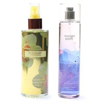 Queen's Secret Midnight Mimosa Body Mist for Women 250ml with Queen's Secret Moonlight Path Fine Fragrance Mist for Women 236ml Bundle