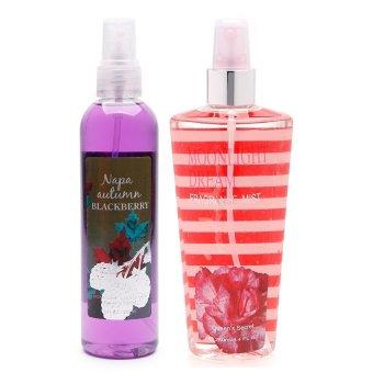 Queen's Secret Napa Autumn Blackberry Body Spray 236ml with Queen's Secret Sweet Moonlight Dream Fine Fragrance Mist for Women 236ml Bundle